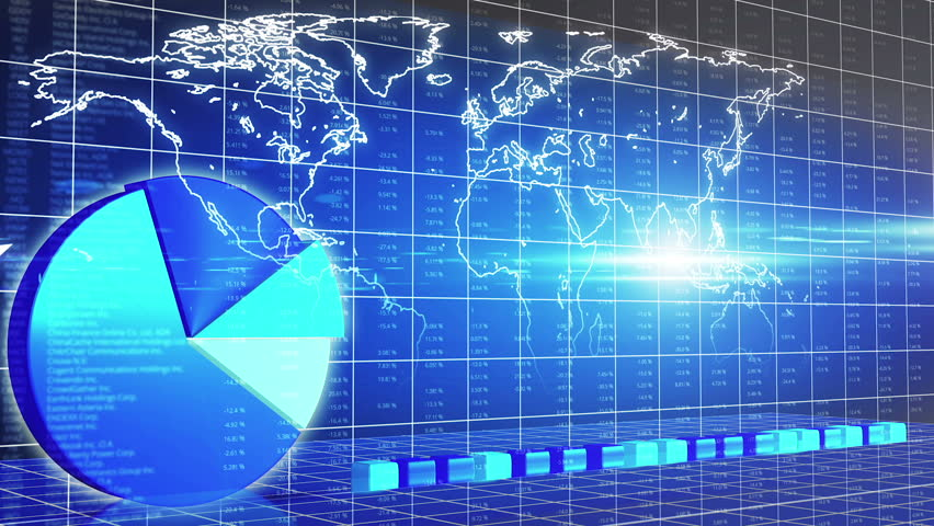 Animated chart presentation, world map, market overview, oil price, GDP growth | Shutterstock HD Video #13681232