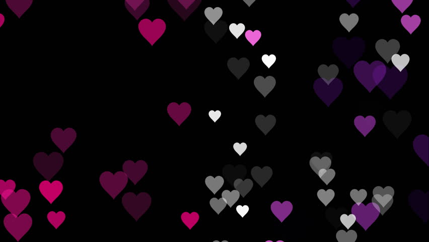 Purple And Black Hearts Wallpaper: Abstract CGI Motion Graphics And Animated Backgrounds With