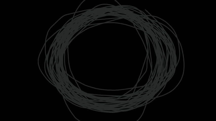 Circle scribbling.2D animation.Includes Alpha channel.
