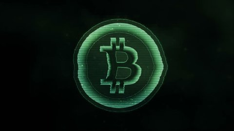 Animation of Bit Coin symbol