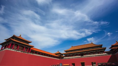 Forbidden City. Beijing. China.  - 4k (4096x2304) Time-Lapse.