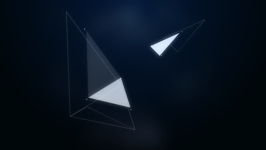 Abstraction composition with triangles, lines and dotes | Shutterstock HD Video #13785203