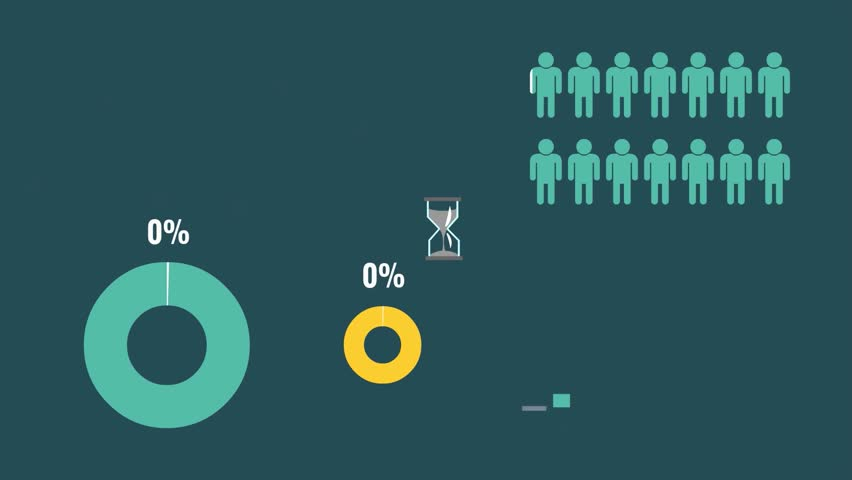 Reflection of figures and statistics in the form of graphs, change the schedule, statistics infographics with numbers, people doing business presentation, information statistics  | Shutterstock HD Video #13838345