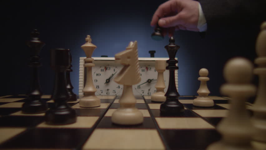 Chess boards and chess pieces game clock