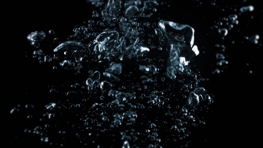 Bubbles Rising In Water Shooting With High Speed Camera Phantom - High speed liquid bubble photography