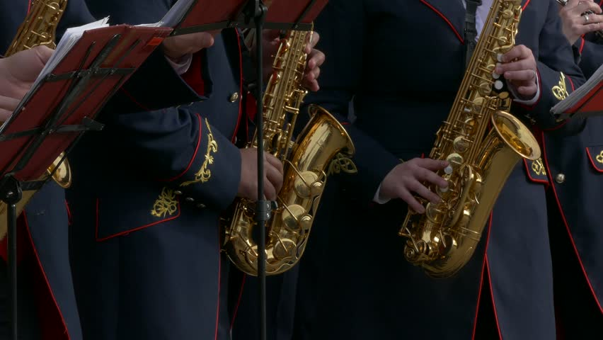 Ungraded: Brass Band Performs Jazz Stock Footage Video (100% Royalty-free)  13911623 | Shutterstock