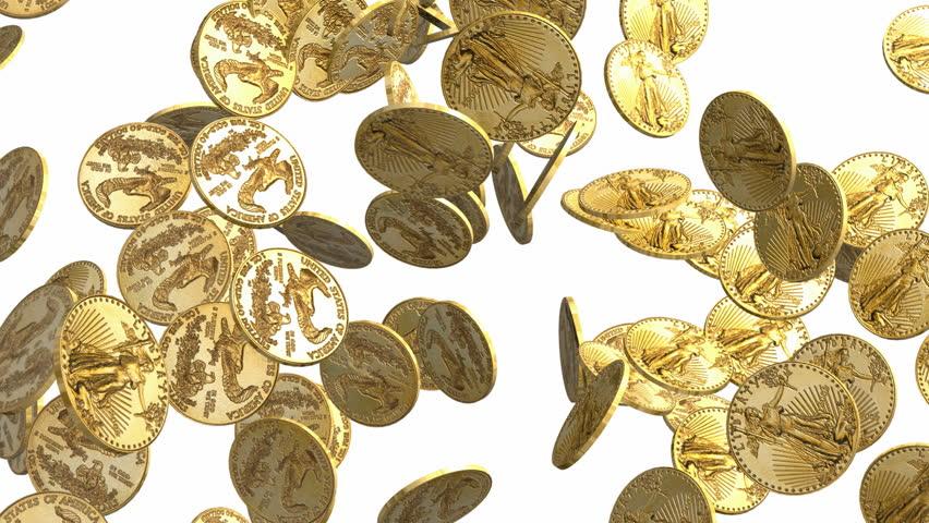 Надписи, золотые монеты картинки анимация