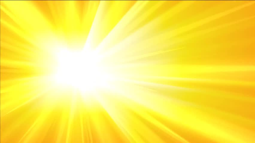 abstract yellow background with rays and pulsating circle