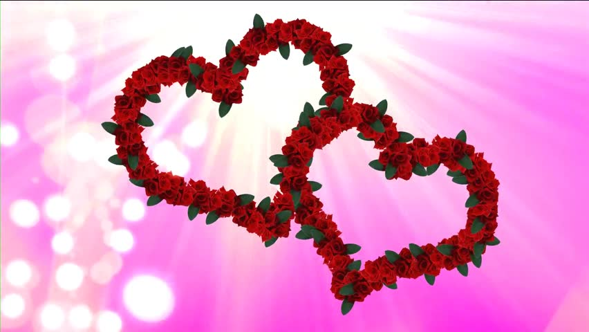 heart and roses background - photo #25