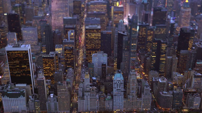 Aerial view of big city at night. financial business district. urban metropolis background | Shutterstock HD Video #13946684
