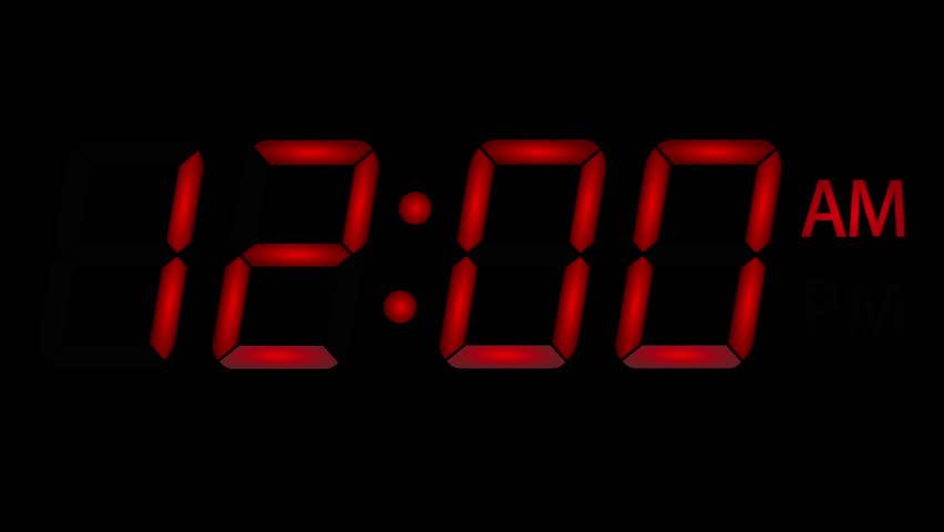 Led Digital Clock Am Pm