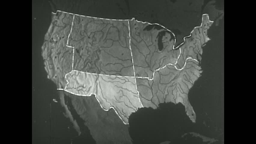 UNITED STATES S A Weather Man Discusses The Drawing Of Weather - Map of weather patterns in the us
