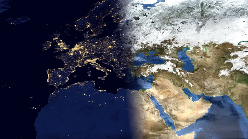 Highly Detailed Timelapse Of European Map Using Satellite Imagery - Portugal map satellite