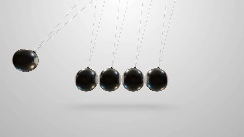 Loopable video 3840x2160 UHD - Newton's cradle in slow motion: a pendulum with swinging metal spheres demonstrates conservation of momentum | Shutterstock HD Video #14160458