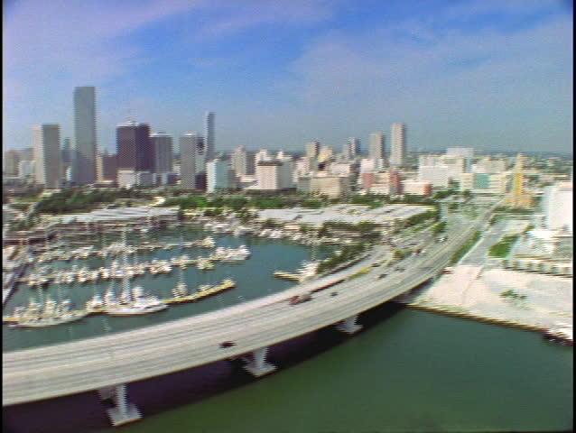 Aerial View Cruise Ship Terminal Miami City Condominiums Biscayne - Miami cruise ship terminal