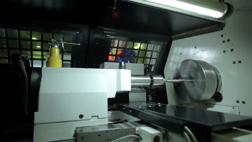 Industrial lathe works metal with precision   Shutterstock HD Video #14178203