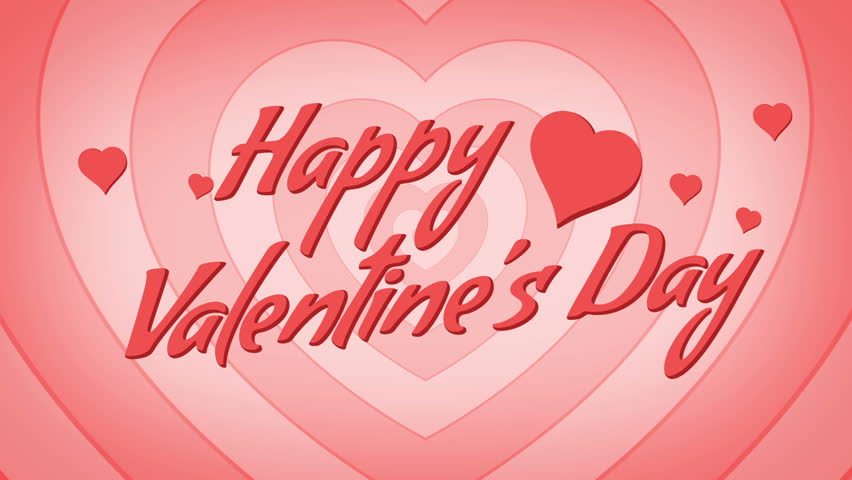 Happy Valentine\'s Day Loop. Motion Hearts Background Stock Footage ...