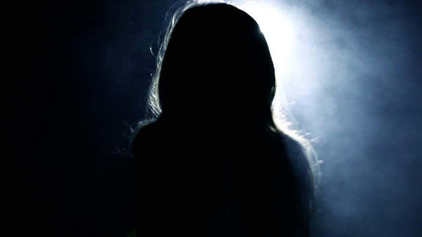 Horror  Girl in a Dark Stock Footage Video (100% Royalty-free) 14203973 |  Shutterstock