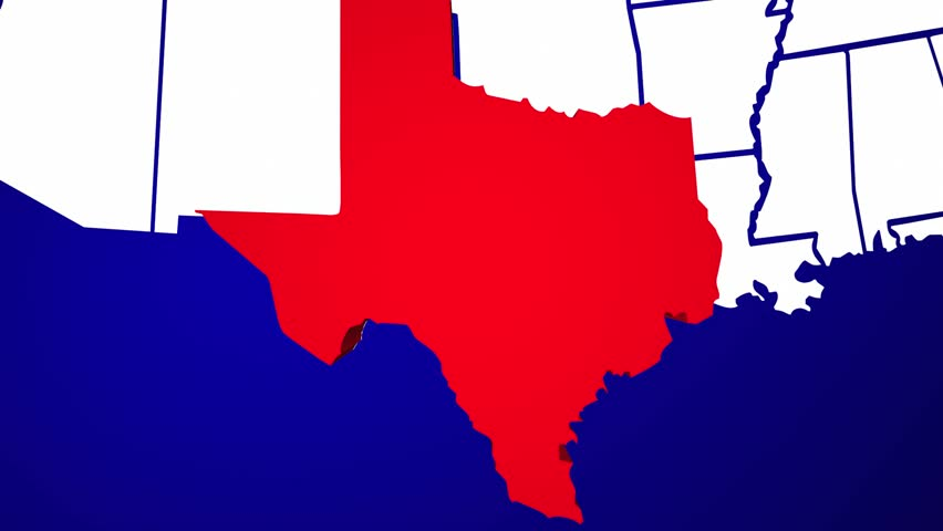 Texas Map Stock Footage Video Shutterstock - Texas map usa
