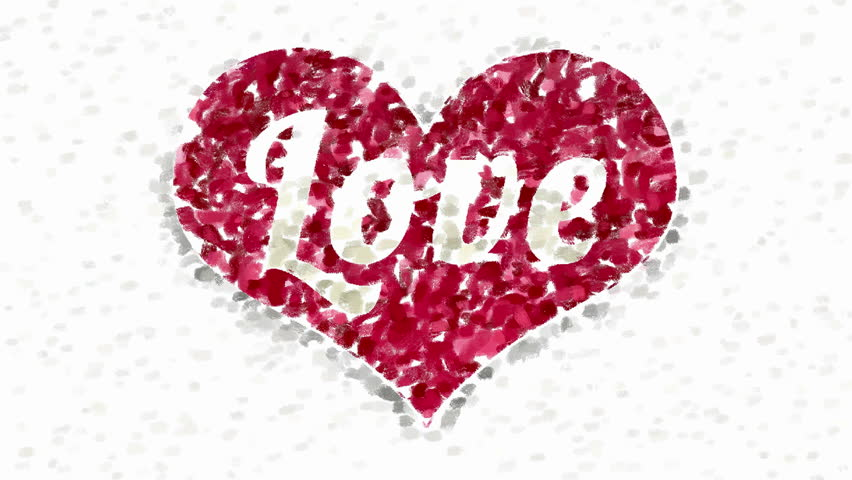 Red Heart Symbol With Word Stock Footage Video 100 Royalty Free