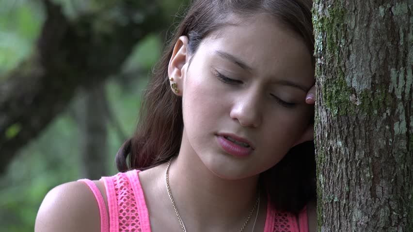 Angry And Alone Teen Girl Stock Footage Video 14244308  Shutterstock-2556