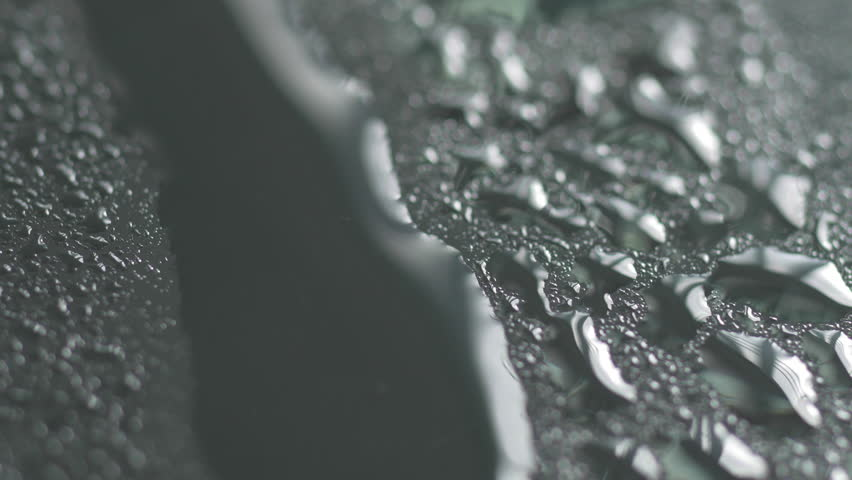 Stock Video Clip of Extreme macro close up of water droplets ...
