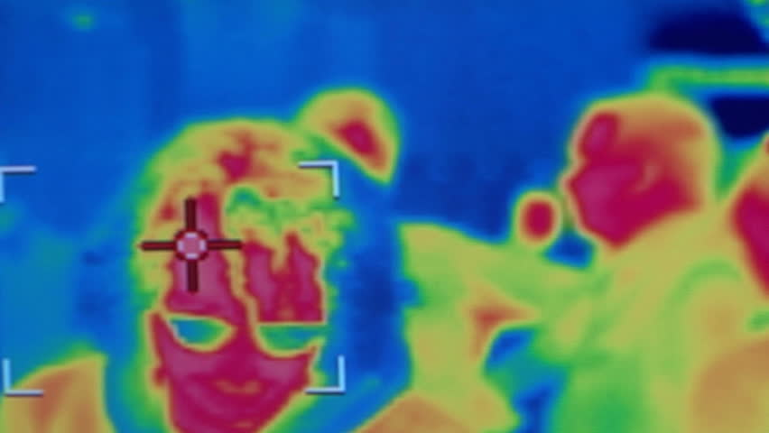 Thermovision Infrared Camera Inspecting The Heat Loss From A ...