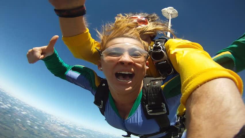 Skydiving tandem funny  | Shutterstock Video #14402161
