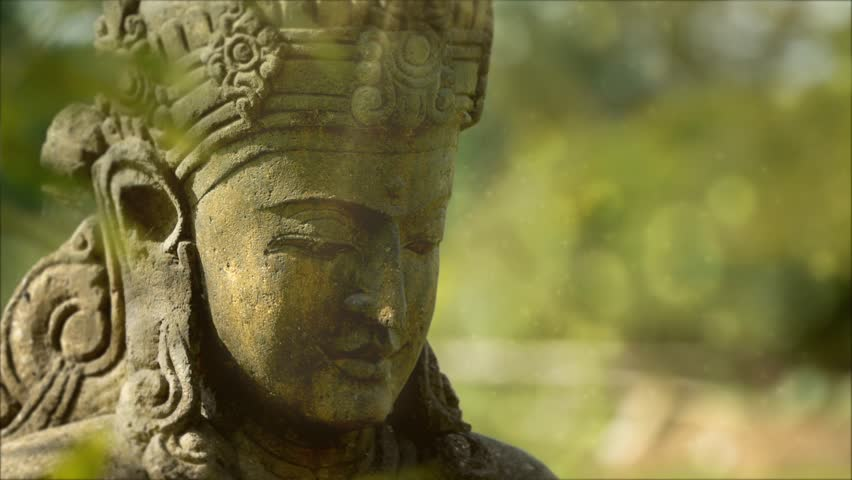 Statue In Beautiful Garden. Rice Goddess From Indonesia. Stock Footage  Video 1441003 | Shutterstock