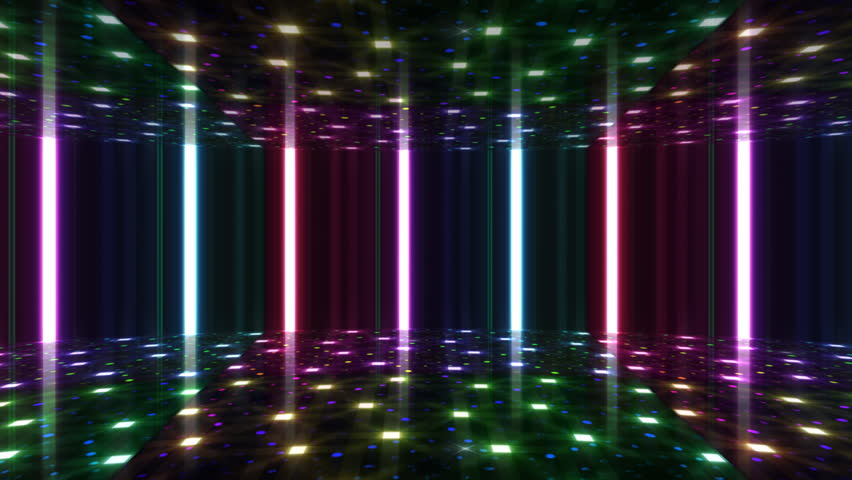 Disco Dance Floor Background Loop Stock Footage Video