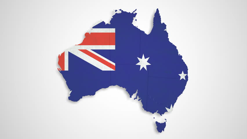 Australia Map States Combine Stock Footage Video - Australia map hd