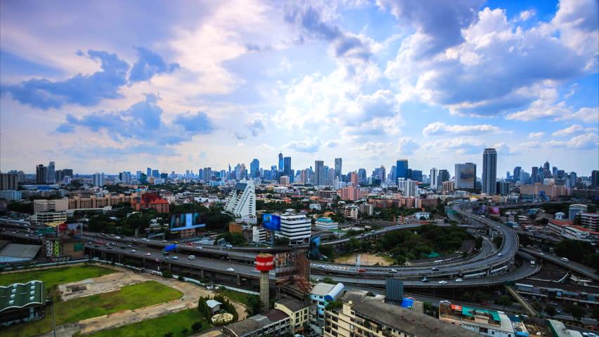 4Ktime Lapse Bangkok City Landscape Stock Footage Video -9934
