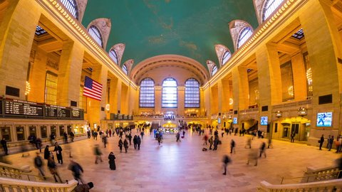 New York Timelapse view of Grand Central Station in New York City