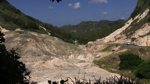 St Lucia volcanic activity multiple shot Caribbean island