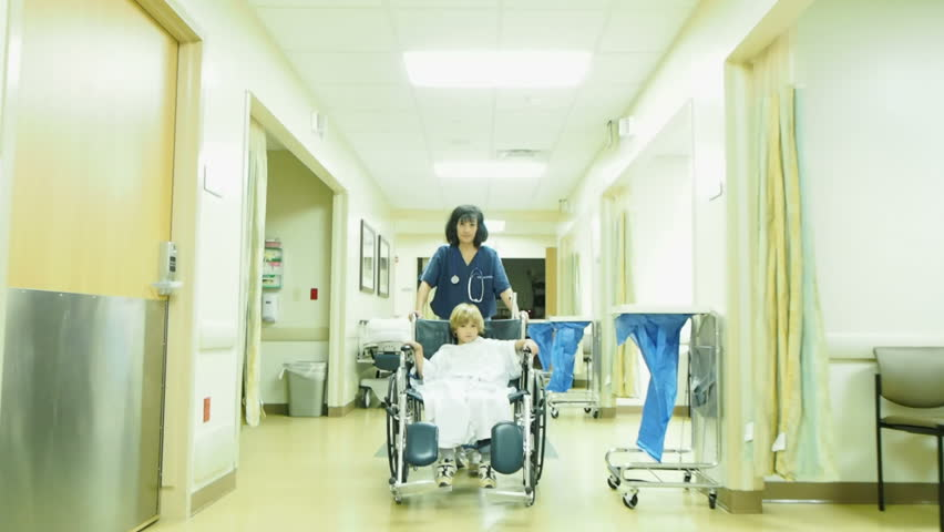 Nurse with little boy in hospital #14601493