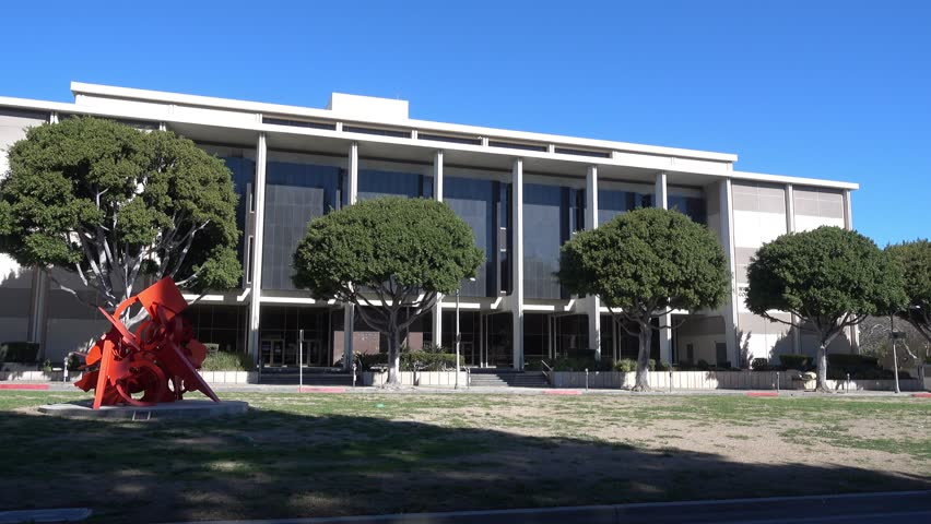 A daytime establishing shot of the Beverly Hills courthouse.     Shutterstock HD Video #14602009