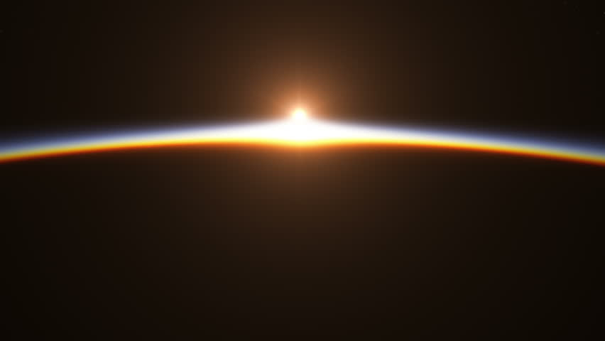 Beautiful And Realistic Sunrise Over The Earth. 3D Animation. Ultra High Definition. 4K. | Shutterstock HD Video #14620093