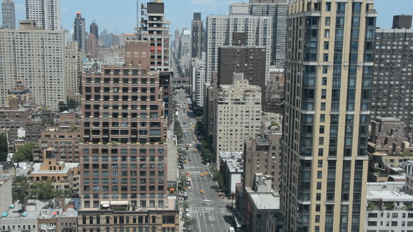 Timelapse New York City Avenue Aerial View Car Passing Panoramic View Skyscraper   Shutterstock HD Video #14625913