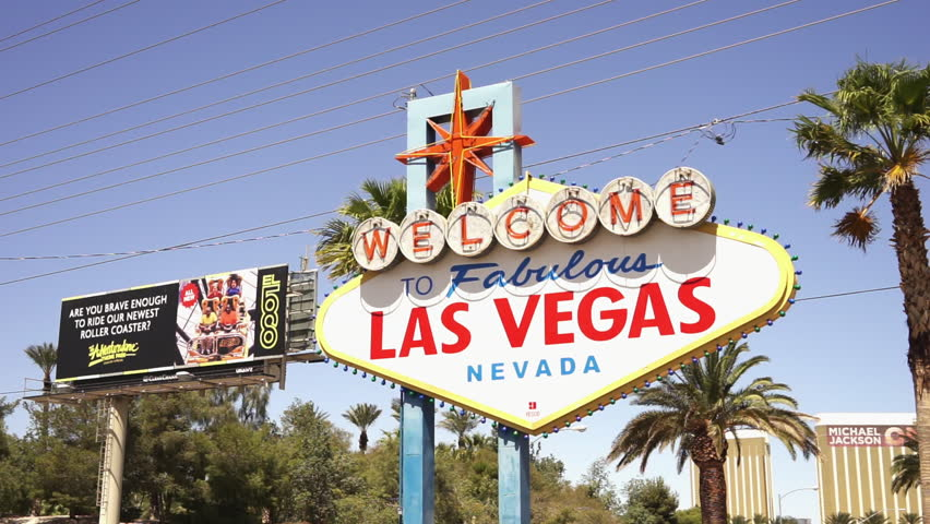 Famous sign at Las Vegas City Limit - LAS VEGAS, NEVADA/USA APRIL 20, 2015 | Shutterstock HD Video #14640982