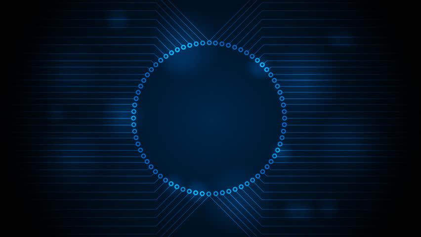Stockvideo Von Dark Blue Tech Circuit Board Technology