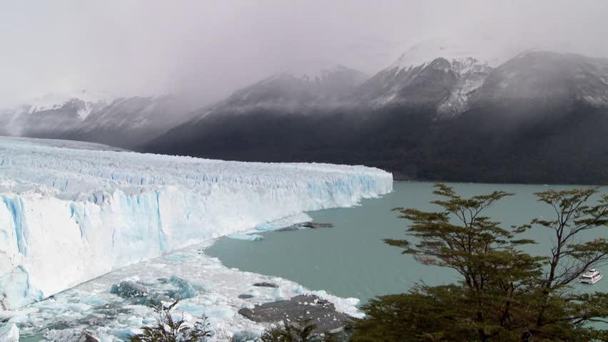 A wide shot of a massive glacier. | Shutterstock HD Video #1475953