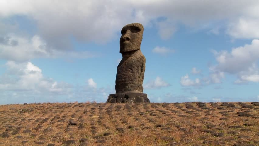 Time lapse of the mystical statues of Easter Island.