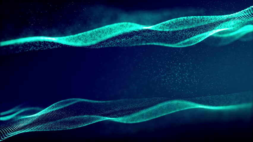 Abstract Motion Background Of Blue Particle Wave, 4k Seamless Loop ...