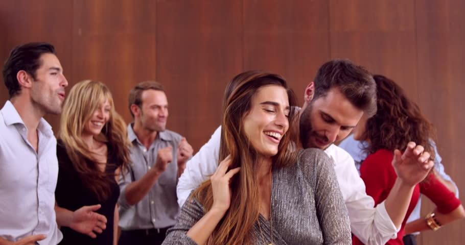 Group of friends dancing in slow motion   Shutterstock HD Video #14770543