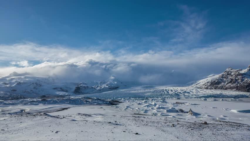 Cinemagraph Loop - Icelandic Glacier - Time Lapse Motion Photo