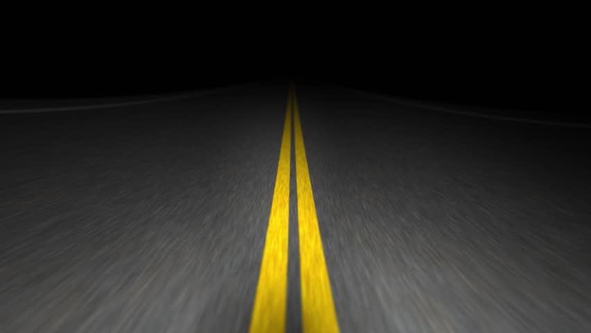 Night road endless trip. Seamless loop | Shutterstock HD Video #14820883