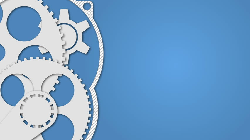 Technology concept with animated gears on blue background.  Looped 4K video animation | Shutterstock HD Video #14840893