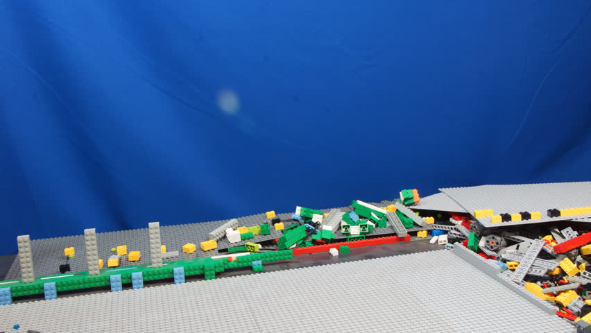 Quito, Pichincha / Ecuador - February 27 2016: Time lapse of space station construction and launch of spacecraft. Model built with LEGO blocks by Alejandro Miranda B.