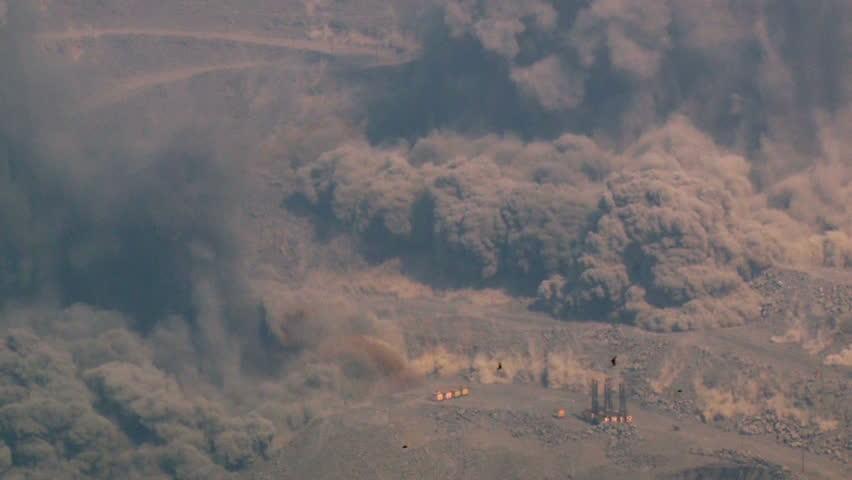 explosion in the granite quarry, explosion in the iron ore quarry, blasting operations, quarry, granite, mining, iron ore,