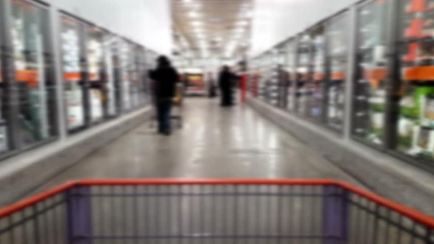 Wholesale warehouse shopping background | Shutterstock HD Video #14935276